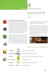 Quartal4/2010 - Deutscher Fruchthandelsverband e.V.