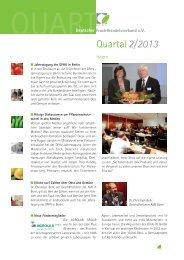 Quart 2/2013 - Deutscher Fruchthandelsverband e.V.