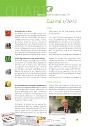 Quart 1/2013 - Deutscher Fruchthandelsverband e.V.