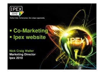 Co-Marketing Ipex website