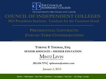 Presentation Slideshow-Thomas - The Council of Independent ...