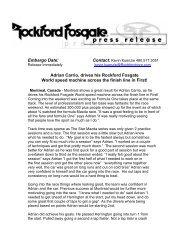 Embargo Date: Adrian Carrio, drives his Rockford Fosgate World ...