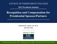 Recognition and Compensation for Presidential Spouses/Partners