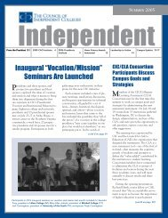 Summer 2005 - The Council of Independent Colleges