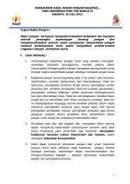 1 RANGKUMAN HASIL RAKOR PANGAN ... - Kadin Indonesia