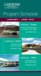 Program Schedule - Akron General Medical Center