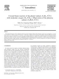 Crossed beam reaction of the phenyl radical - University of Hawaii at ...