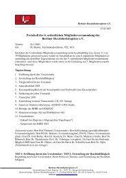 Protokoll der 6. ordentlichen Mitgliederversammlung des Berliner ...
