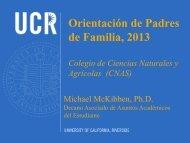Orientación de Padres de Familia, 2013 - CNAS Undergraduate ...