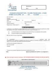 Dossier d'inscription au lycée - Lycée français international Victor ...