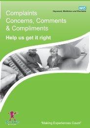 Making a Complaint information leaflet - NHS Heywood, Middleton ...