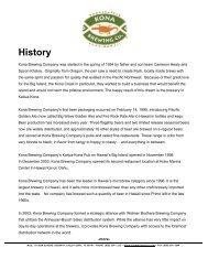 Press Kit (PDF) - Kona Brewing Company