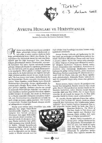 yarına - Türk Tarihi Araştırmaları