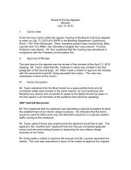 Board of Zoning Appeals Minutes July 13, 2010 I. Call to order ...