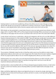 Desktop Author is an electronic publishing software that allows you ...