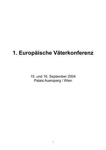 1. Europaeische Vaeterkonferenz 2004.pdf - Väter aktuell