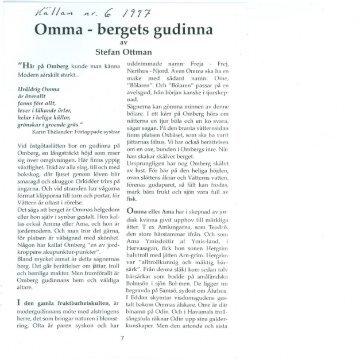 Omma -bergets gudinna