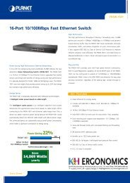 16-Port 10/100Mbps Fast Ethernet Switch 14069 Watts