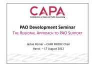 The Regional Approach to PAO Support (presentation) - Jackie Poirier