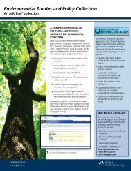 InfoTrac Environmental Studies and Policy Collection