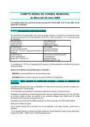 compte rendu du 25 mars 2009 - Montreuil-Bellay