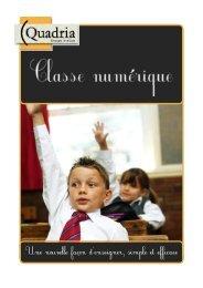 Plaquette La Classe Numérique - Quadria - HP