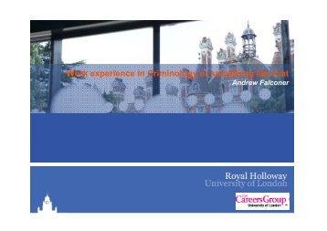 Criminology - Internships - Royal Holloway, University of London