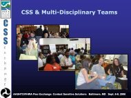 CSS & Multi-Disciplinary Teams