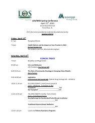 LOS/MOS Spring Conference April 13 , 2013 Friday, April 12 ...