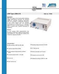 LISN Type LISN-2-16
