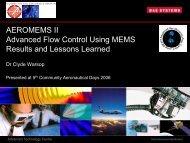AEROMEMS II - Aeronautics Days 2006