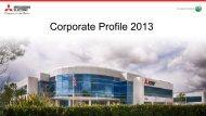 Corporate Profile 2013 - Mitsubishi Electric US