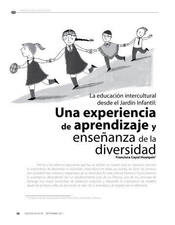 una experiencia de aprendizaje y enseñanza de ... - Revista Docencia