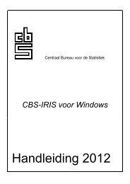 Handleiding 2012 - CBS voor uw bedrijf