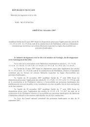 Arrete modificatif attestation accessibilite 2007-12-03 - cfpsaa