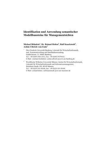 Identifikation und Anwendung semantischer ... - CEUS