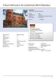 3 Raum Wohnung in der Lutherkirche (Berlin/Spandau) - Schoba ...