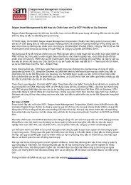 Saigon Asset Management Ký kết Hợp tác Chiến lược với Cty BOT ...