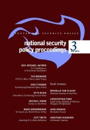 National Security - Center for Security Policy
