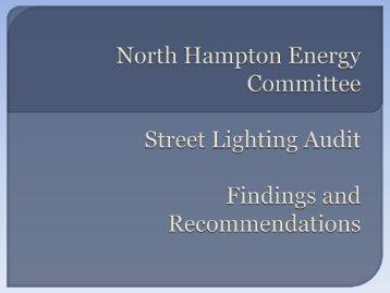 Street Light Presentation - Town of North Hampton