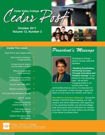 October, 2011 - Cedar Valley College