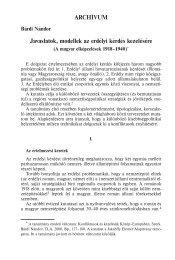 Javaslatok, modellek az erdélyi kérdés kezelésére ARCHÍVUM