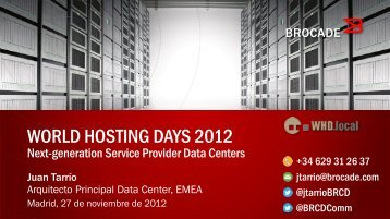 Next generation service provider datacentres - WorldHostingDays