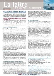 14/03/2013 L'Actu CM-CIC AM - CM-CIC Asset Management
