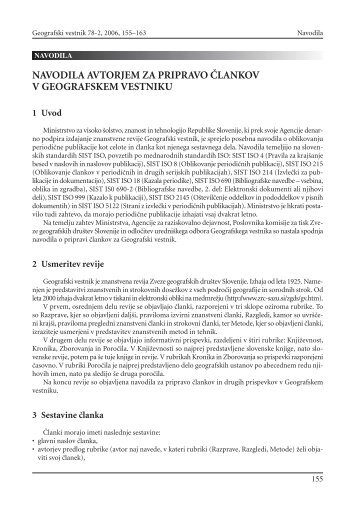 vestnik 78_2.qxd - Zveza geografov Slovenije - ZRC SAZU