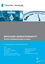 BRÜCHIGER GENERATIONENKITT? - Senioren-Universität ...