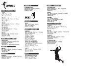 Calendrier sportif d'avril à juillet 2013 - Ville de Chenôve