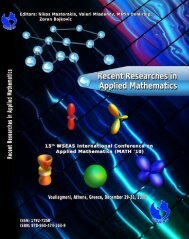 Recent Researches in Applied Mathematics - Wseas.us