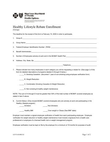 Automatic Payment Authorization Form - Florida Blue - BCBSF
