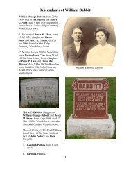 Descendants of William Babbitt - RootsWeb: Freepages